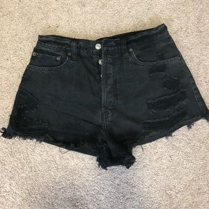 Abercrombie & Fitch high waisted black short